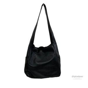 Eileen Fisher Black Everything Shoulder Bag EUC